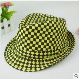 Wholesale Summer Fedora Hats For Women Men Check Style colors Mix C6