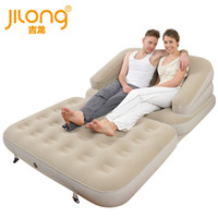 Wholesale Observing Jilong Double Flocked inflatable sofa bed pump delivery