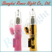 Wholesale Sexual Queen Modes Vibrating amp Rotation USB Rechargeable G Spot Rabbit Vibrators Female Sex Toys Erotic Audlt Products
