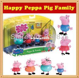 Wholesale Peppa Pig Toys Family Set Plastic Peppa Pig Pepa Pig Toys George Pig Family Baby Kid Toy Birthday Gift