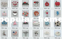 Wholesale floating locket charms mixed styles floating charms for glass memory living floating locket pendant Xmas gift no lo