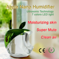 apple keyboard cleaner - Mini Apple Nano Humidifier with LED light and USB line Super Mute can Moisturizing skin and Clean air