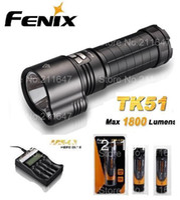 DC SMD 3528 Yes Free Shipping Fenix TK51 L2 LED flashlight 1800 lm+(Fenix ARE-C2 Charger + ARB-L2S 3400 mah 18650 li rechargeable battery 3Pcs )