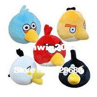 Unisex 0-12 Months Video Games 5 colors NEW 30 pcs lot classic anime stuffed cute mini 5cm love birds kids toy for children animal doll plush toys birthday gift