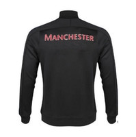 Wholesale Manchester team men coat jersey sport comfortable football hoodie athletic soccer training coat suit