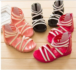 Wholesale New Korean Children s Sandals Fashion baby sandals small princess paint han edition recreational shoe tide shoes girls sandals