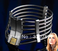 posture collar - New Stainless steel Wire Collar necklace Posture Collar with Lock Joints sex toys