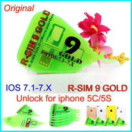 Original R-SIM 9 pro gold R SIM 9 RSIM 9 GOLD golden RSIM9 GOLD Unlock card for iphone 5 5C 5S IOS 7.1-7.X IOS 7.1 ATT T-MOBILE