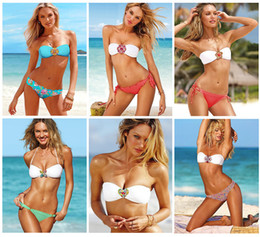 Wholesale Color New fashion lady women s bikini set sexy swimwear beachwear hot sell swimsuit crystal jewellery swimsuit