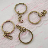 Wholesale Key Chains amp Key Rings Antique Bronze Plated Tone split ring Findings DIY