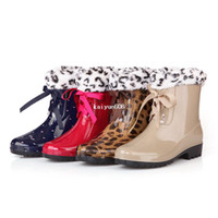 Wholesale Woman Summer Shoes Hot Fashion PVC Rain Boots Women Size Yards Waterproof Color Bow Martin Factory Direct Rainboots