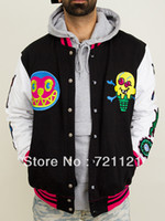Cotton Cardigan Hoodies,Sweatshirts 2014 BBC Billionaire Boys Club Icecream s With A Hood Men's Thicken Hoodies Sweatshirts Black S-2XL Free Shipping