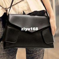 Shoulder Bags Women Plain Simple fashion vintage messenger envelope bag size 21*30*5cm black red brown color women shoulder bag
