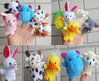 Wholesale Pack Factory Supplied Cartoon Animal Finger Puppet Finger Toy Finger Doll Baby Doll