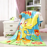 Polar Fleece Fabric chicken run - Chicken Run Cartoon baby coral fleece blankets infant quilt home sleeping quilt bedspread bed sheet