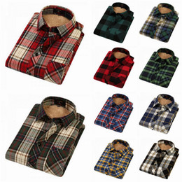 Wholesale New Men Casual Shirts Soft Sanding Lamb Velvet Thicken Long Sleeve Lapel Shirts Style Choose YGJR