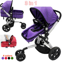 Wholesale Multifunctional wheelchair Baby stroller folding two way three wheels Luxury baby carriage high quality with free gifts