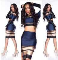 Street Style Polyester + Spandex Strappy vintage sexy lace mesh cut out bandage bodycon dress crop top 2 piece set Jasmine Nina celebrity evening club party dress night out