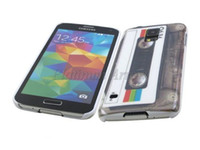 Wholesale For Samsung Galaxy S5 G900 Hard Plastic Back Cover Case Cassette Tape