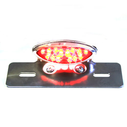 Motorcycle 19 Led Chrome Tail light Lens Clear led lights led motorcycle lights