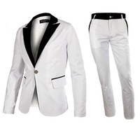Pant Suit western suits - Hot Fashion Mens Suits contains Jacket pant Western Style Outwear Leisure White Suit Blazer Tuxedo High Quality
