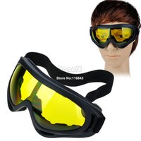 Wholesale High Quality New Motorcycle Ski Snowboard Dustproof Sunglasses Eye Glasses Lens Frame Goggles Yellow Lens Dropshipping