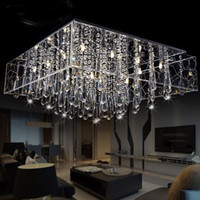 Modern Hotel 10 ~ 20sq.m Modern Crystal Chandelier Pendant light Net ceiling light restaurant lights square glass crystal lamp living room lamps lighting