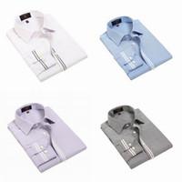 Wholesale 2014 New Men Casual Shirts Soft Oxford Weave Long Sleeve Lapel Shirts Style Choose NJX