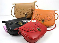 Cross Body Women Plain women fashion envelope Retro pu leather Woven bags Rope green red Messenger Bags Shoulder bag with flower 11 colors