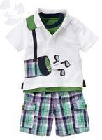 Wholesale 2014 New Boys Brand 2pieces sets T- shirt+ shorts ba...