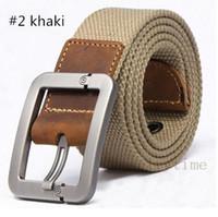 Wholesale Fashion Faux Canvas Simple Shape Metal Mens Strap Man Ceinture Buckle Belt Men s Belt Free shopping