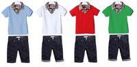 Wholesale 2014 New Boys Brand 2pieces sets T- shirt+ jeans bab...