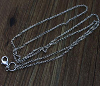 Wholesale Details about Good hot sell cm k white gold CHAIN FOR FLOATING CHARM GLASS LOCKETS e749