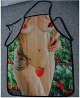 Waist Polyester Sexy Sexy Novel Naked Woman Apron with Strawberry April Fool's Gift Valentine's Day Gift