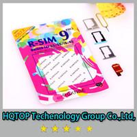 Wholesale TOP new R SIM RSIM9 R SIM9 Pro Perfect SIM Card Unlock Official IOS ios RSIM for iphone S G S C GSM CDMA