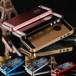 Wholesale S5Q Luxury Brushed Aluminum Metal Alloy Full Body Case Cover Skin For iPhone S AAADAT