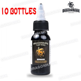 Wholesale 10 OZ OZ Bottle Black Tattoo Ink DragonHawk Tattoo Inks Set Tattoo Pigment Tattoo Ink Pigment Tattoo Supply DHL