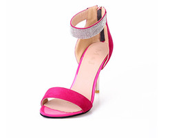 New style Women sexy sandals Bridal Dress Shoes Joker fashion lady shoes diamond fine with high heels sandals size:US4-8 NL110