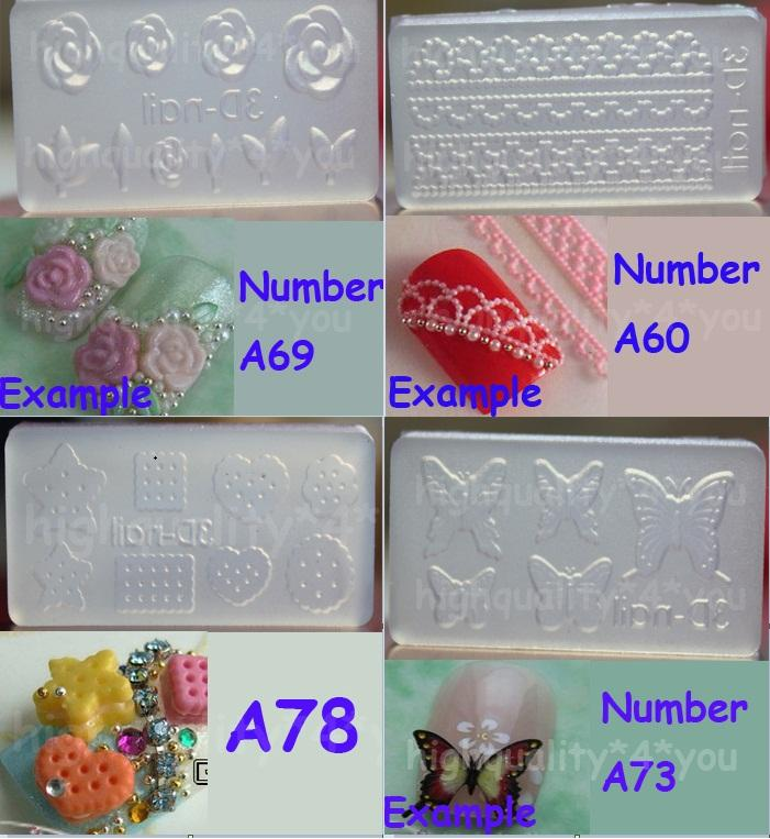 Acrylic mold for 3d nail art decoration diy free p p new for 3d acrylic nail art mold diy decoration