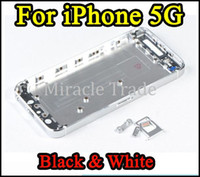 Wholesale Black White Metal Back Housing For iPhone G Middle Bezel Chassis Parts Battery Door Cover Parts