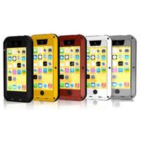Aluminum aluminum sample - S5Q Dust Shock Waterproof Aluminum Metal Gorilla Glass Case Cover For iPhone C AAADAW