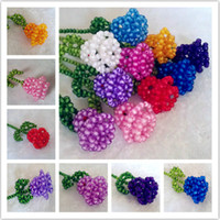 Wholesale DIY Weaving Beads Rose Plastic Flower Model Creative Valentines Gift SH378