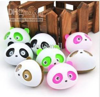 Wholesale 4 Mix color Cute panda Air Freshener Car perfume holder Cartoon design car perfume seat car auto air purifier free ship