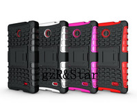 Wholesale Mix color For Nokia X TPU PC combine stand case For Motorola