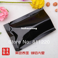 Wholesale Black vacuum packaging bags aluminum foil food saving bags cm food medicine packing material food grade in stock fast ship
