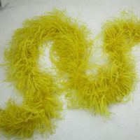 Wholesale Curly Ostrich Feather Boa ply Yellow Ostrich Feathers Scarf Pary Costume Dressup Ostrich Feather Boa Feather Puff for Kids Cloth