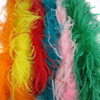 Wholesale Curly Ostrich Feather Boa ply White Feather Boa Ostrich Feathers Scarf Pary Costume Dressup Ostrich Feather Boas Many Colors