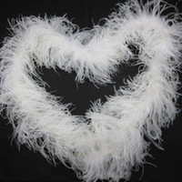 Wholesale Curly Ostrich Feather Boa ply White Feather Boa Ostrich Feathers Puff Plush Ostrich Scarf Halloween Pary Costume Dressup