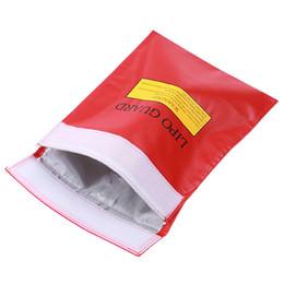 Sacs ignifuges en Ligne-Sac de protection Sac Garde batterie Lipo Sécurité de la batterie Sac Charge Guard Explosion-Proof Fireproof, 10pcs / lot, livraison gratuite RM202 gros