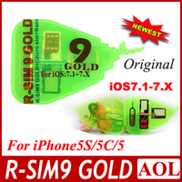 Wholesale Original Official edition R SIM pro gold R SIM Pro gold RSIM9 R SIM GOLD Unlock SIM Card available for iphone C S G G IOS X